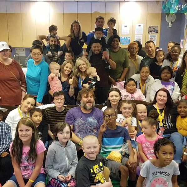 "Jack Black Surprises Kids at Private ""House with a Clock in its Walls"" Screening"